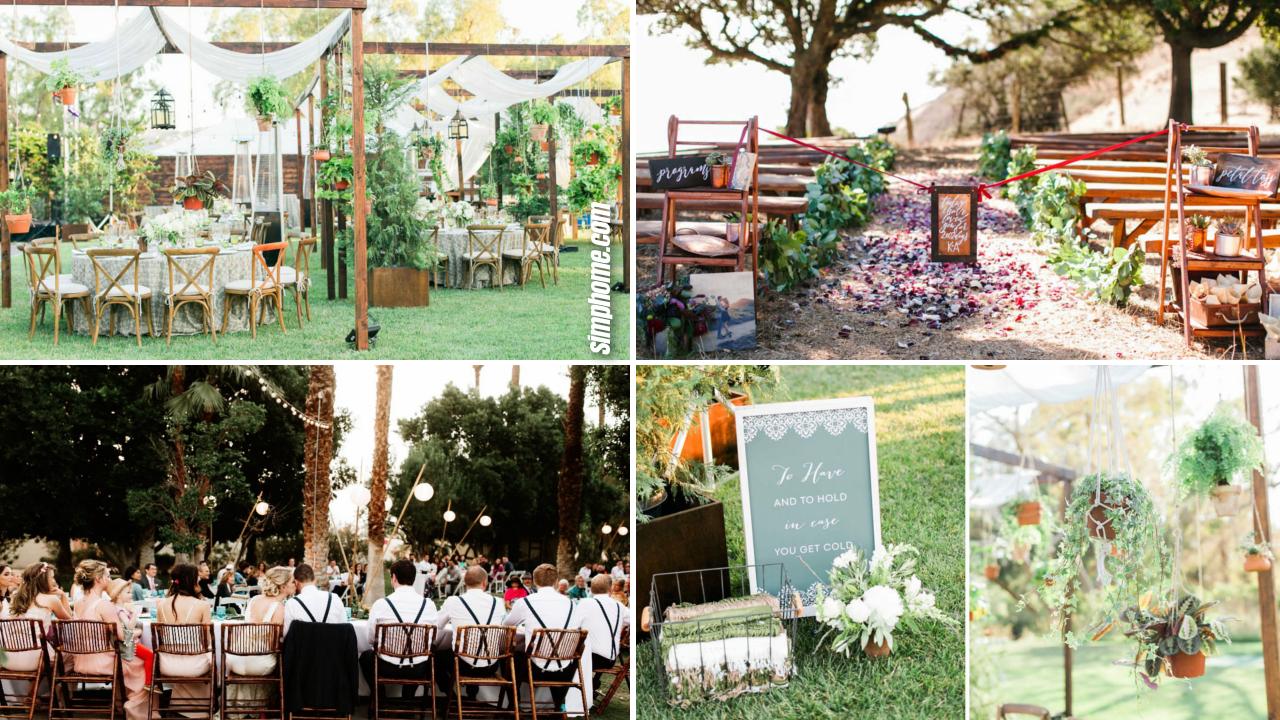 10 Ideas How to Upgrade Casual Backyard Wedding Events via Simphome.com