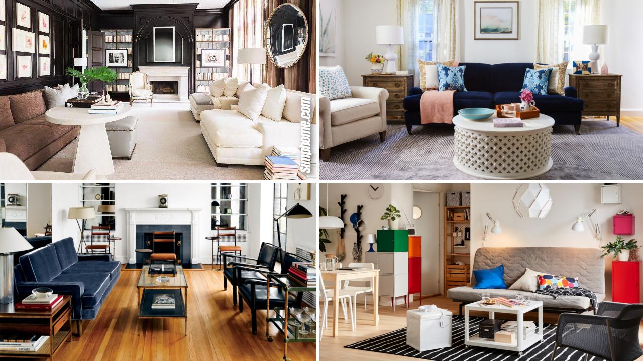 10 Ideas How to Upgrade and Improve Small Living Room Set Ups via SIMPHOME.COM Featured Image