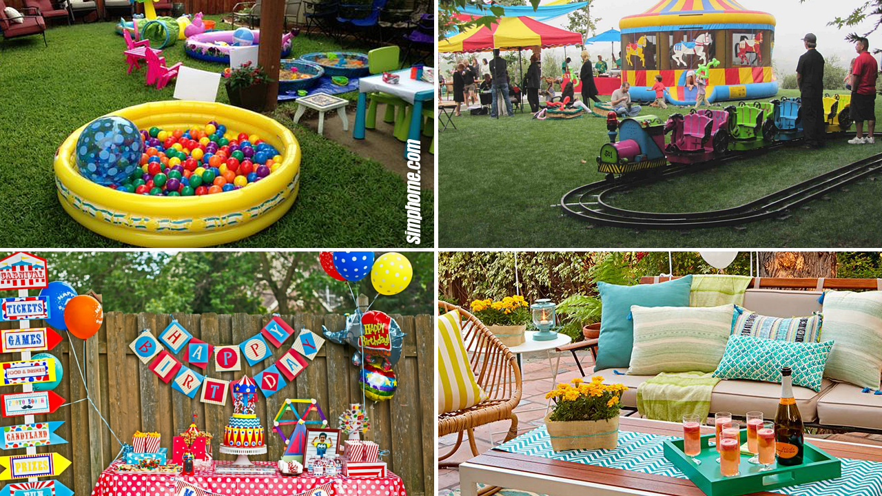 20 Ideas To Make Fun Birthday Party In The Backyard Simphome