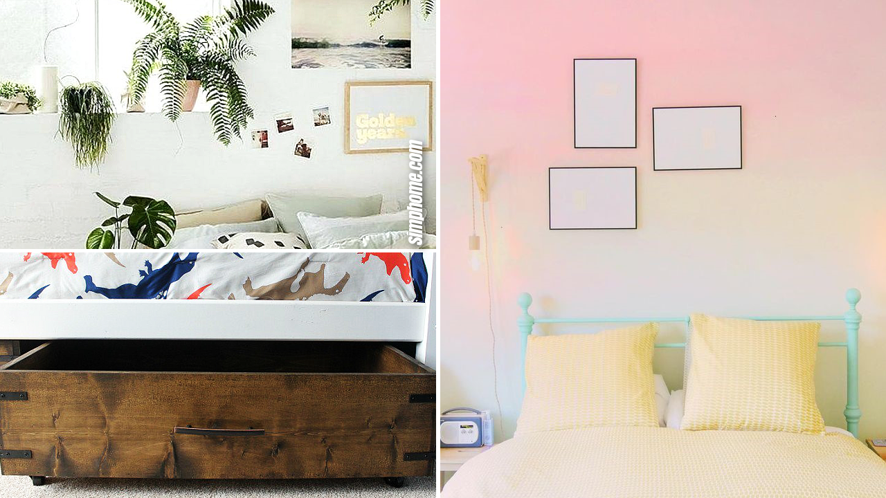 10 Other DIY Ways How to Level up Small Bedrooms via Simphome.com