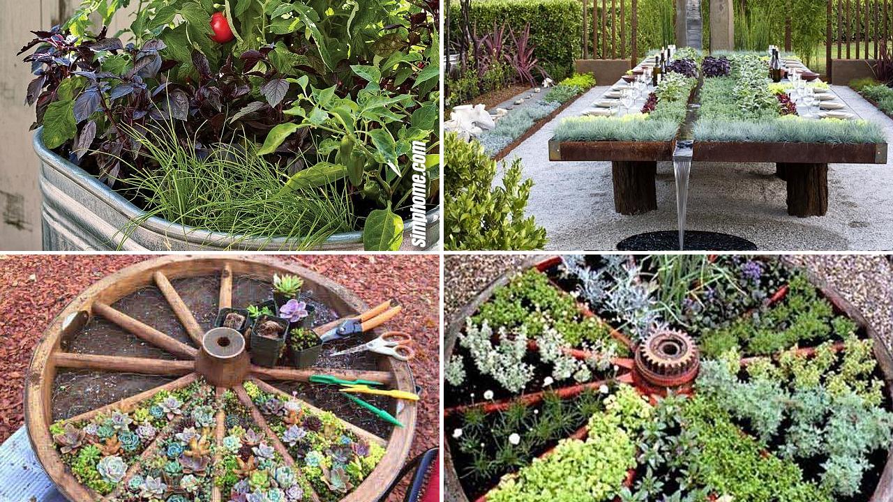 10 Unique and Unusual DIY Vegetable Garden Ideas via Simphome.com