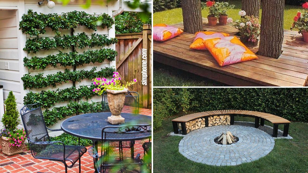 10 cheap landscaping ideas for small backyards via Simphome.com