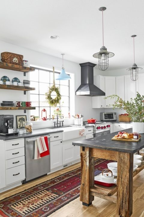 10. All White Modern Farmhouse Kitchen via Simphome