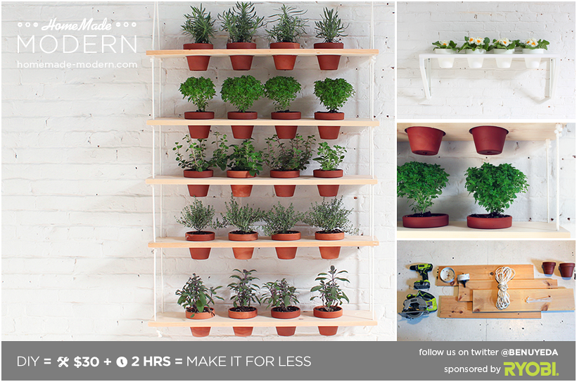 10. DIY Hanging Pots idea via Simphome.com