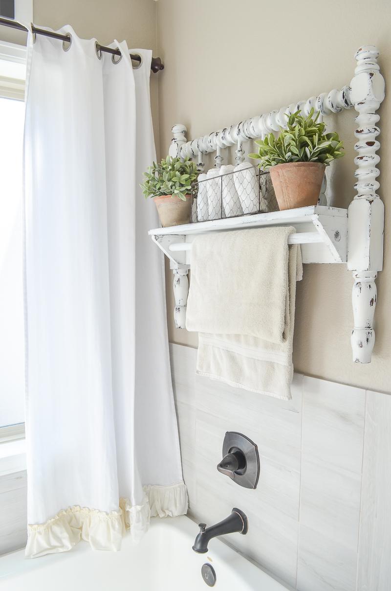 10. Transform a Bed Frame into a Multipurpose Shelf via SIMPHOME.COM