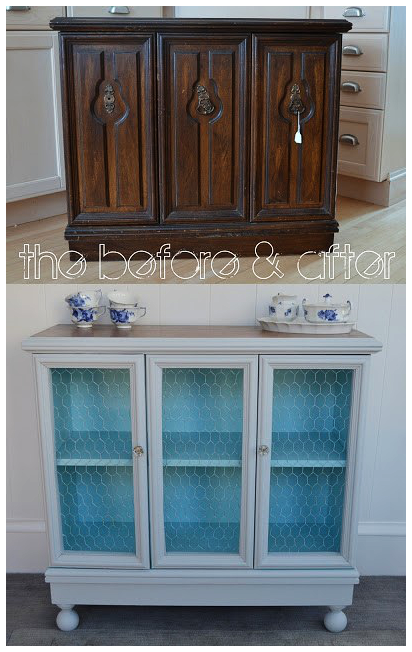 10. Well Worn Cabinet to a Refreshing Look via Simphome.com