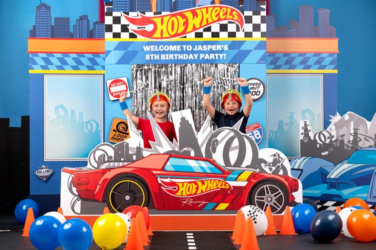 10.Hot Wheels Theme Birthday Party Idea via Simphome.com