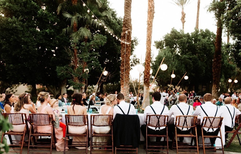 10.Rustic Wedding Decoration with Long Tables via Simphome.com