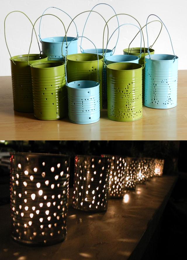 10.Tin Can Lanterns via SIMPHOME.COM