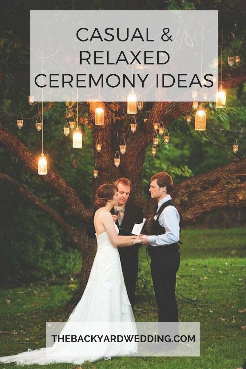 13. Simphome.com casual relaxed ceremony ideas the backyard