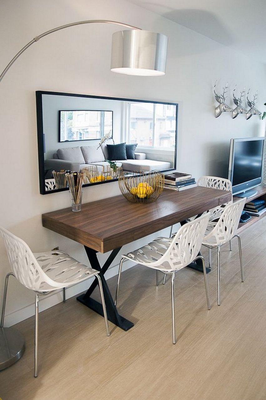 14.narrow dining tables for a small dining room home sweet home via Simphome.com