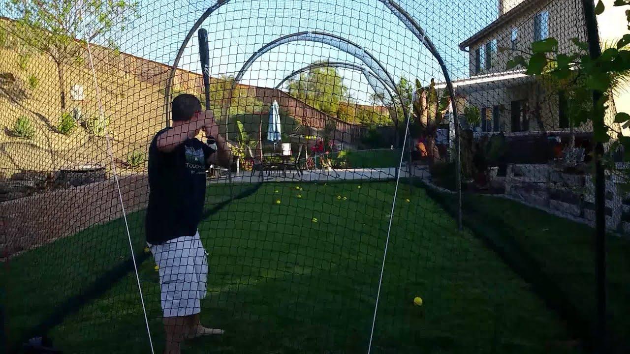 18.backyard batting cage ideas via Simphome.com