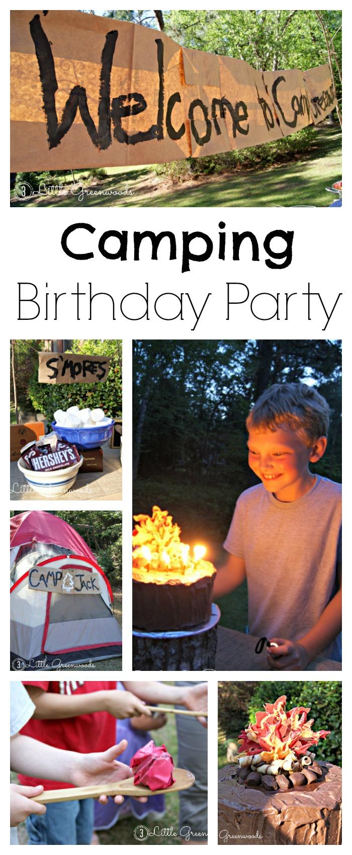 18.camping birthday party fun for backyard camping party ideas via SIMPHOME.COM