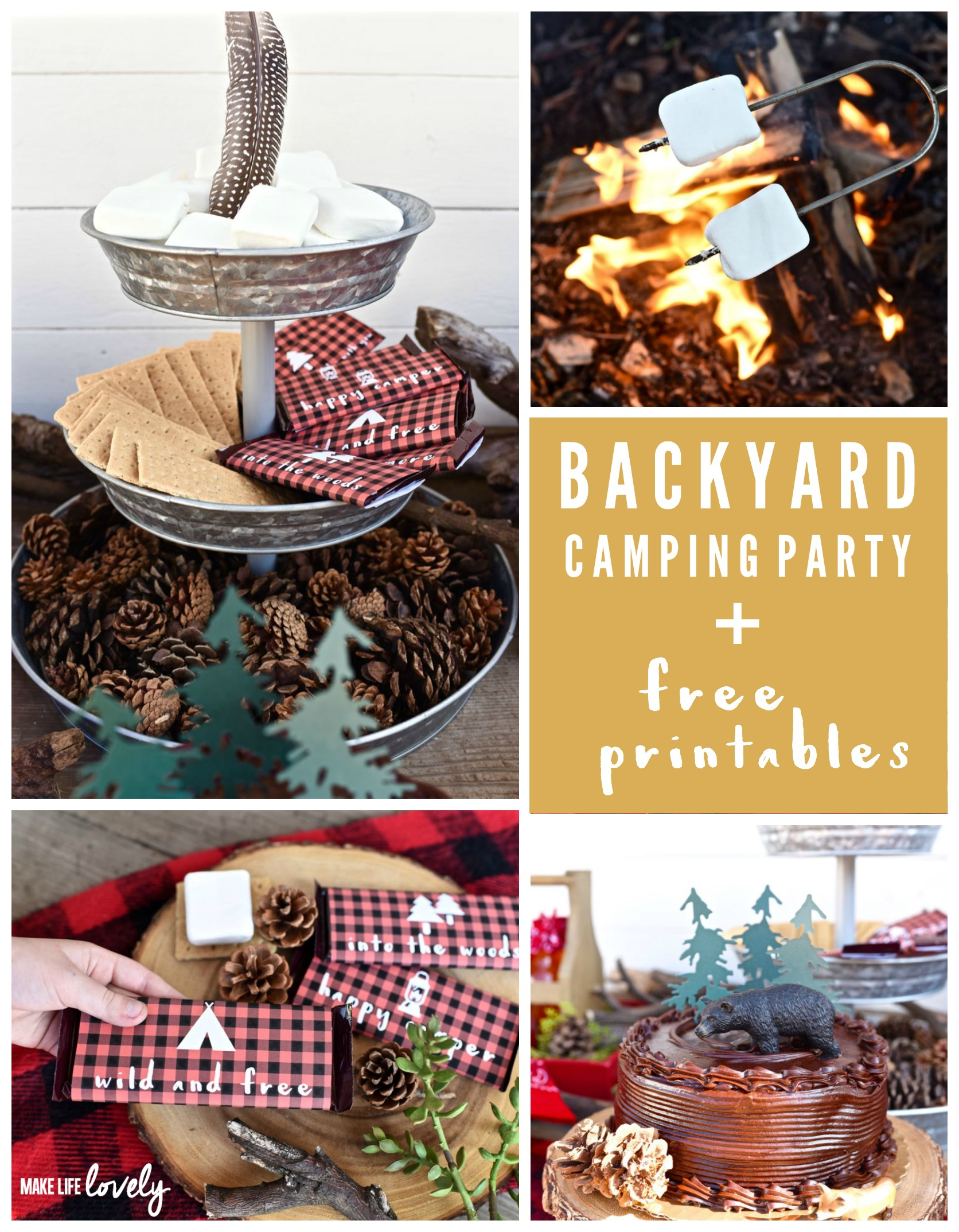 19.backyard camping party make life lovely with backyard camping party ideas via SIMPHOME.COM