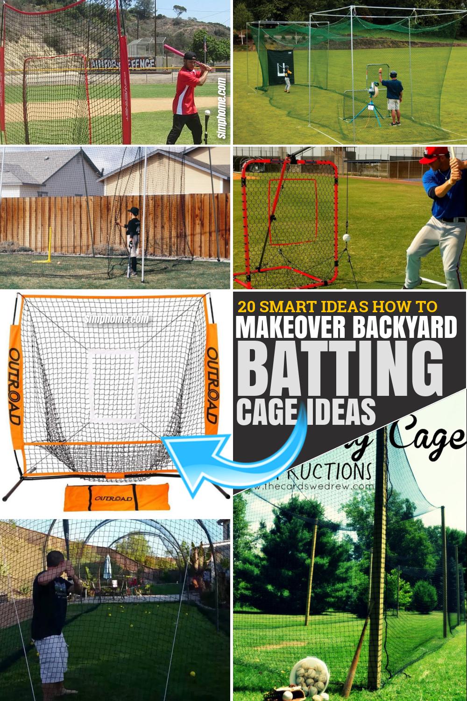 20 Smart Ideas How to Make Backyard Batting Cage Ideas via SIMPHOME.COM Featured Pinterest Image