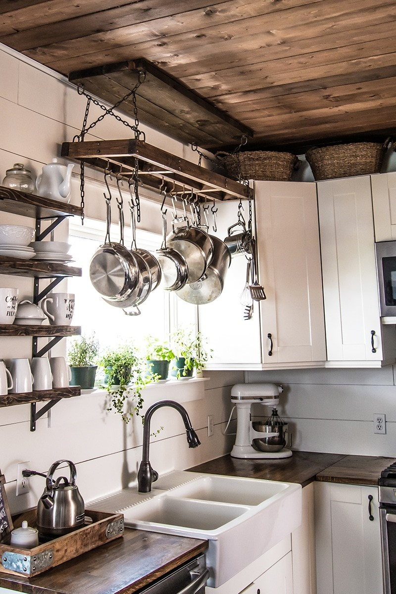 3. DIY Pot Rack from Scratch via Simphome