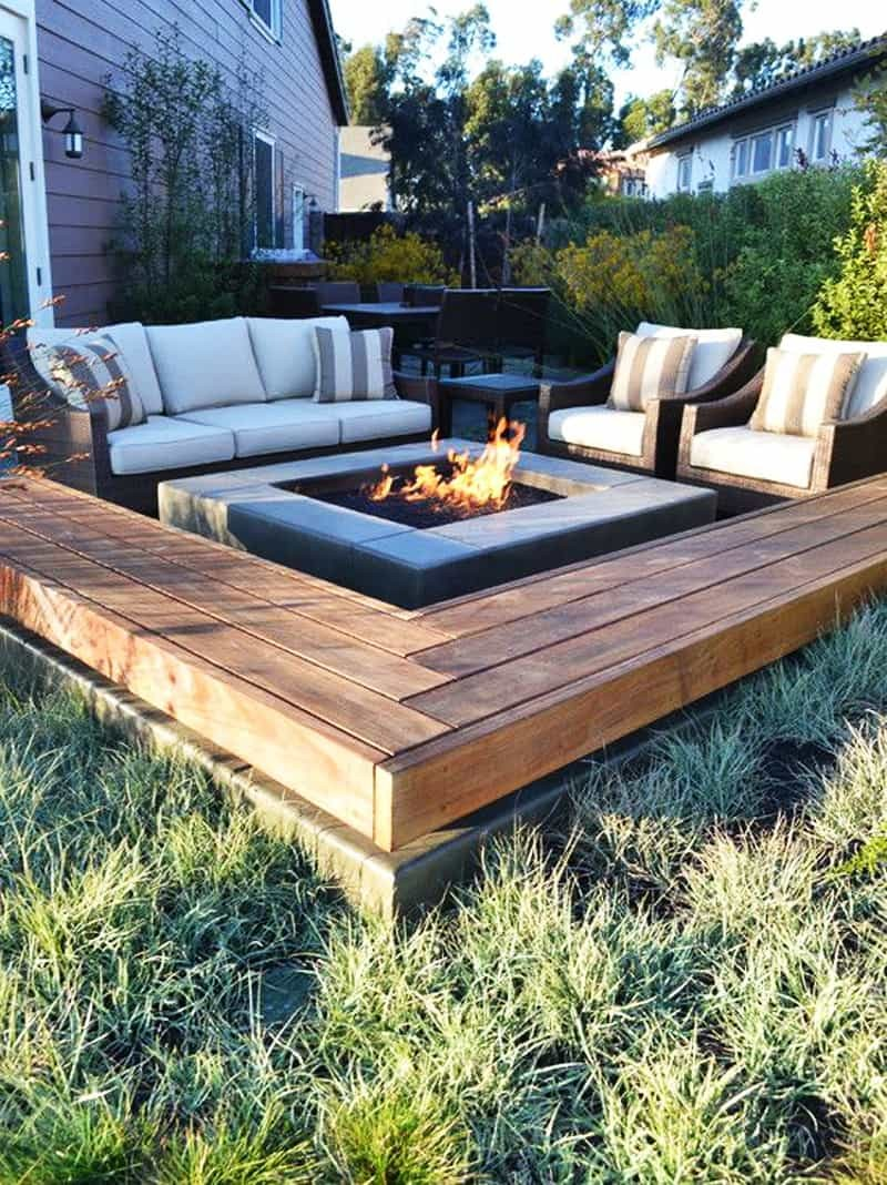 3.Another Minimalist Firepit with Ceramic Layer via Simphome.com