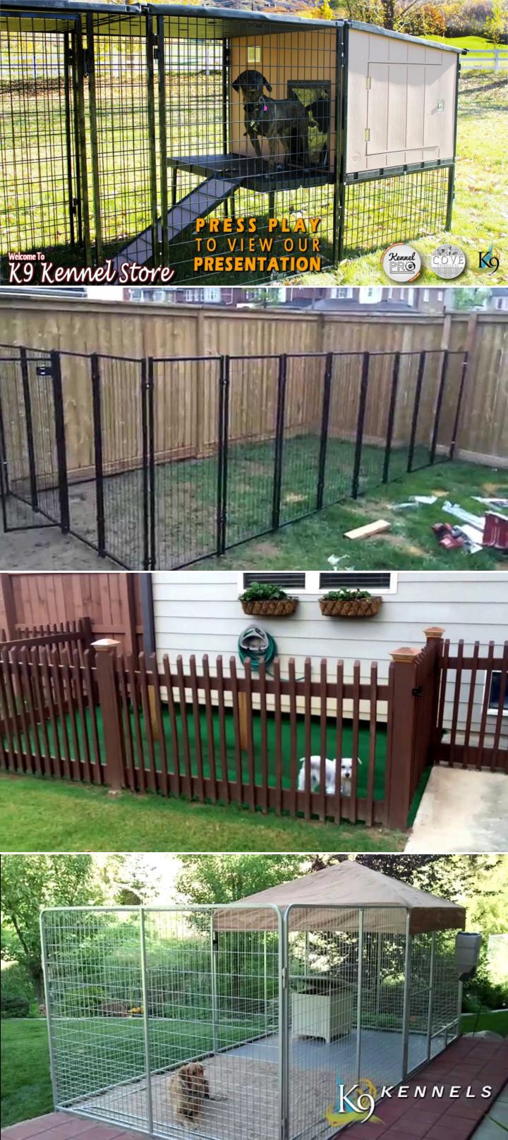 4 Clever Designs of How to Build Backyard Dog Kennel Ideas via Simphome.com