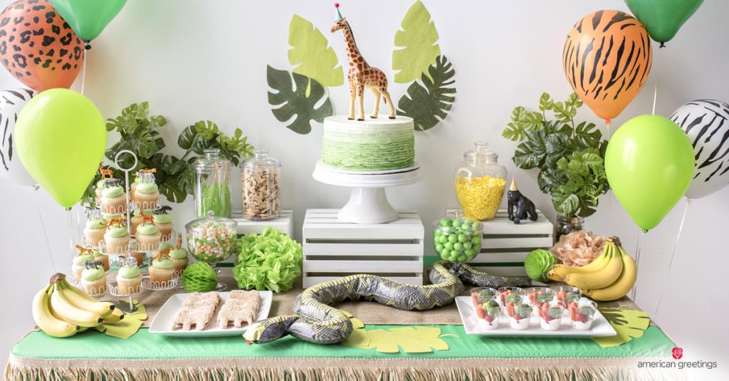 4.Back to Nature DIY Serving Birthday Party Idea via Simphome.com