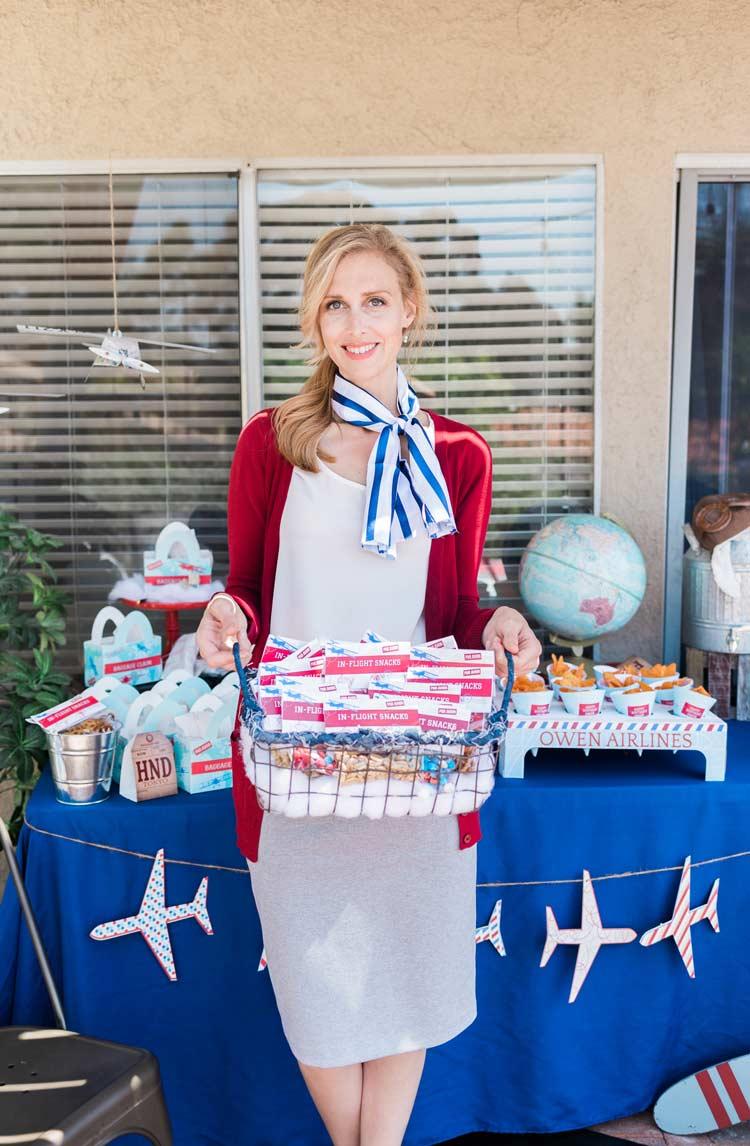 5.Aviation Dress Theme Birthday Party Idea via Simphome.com