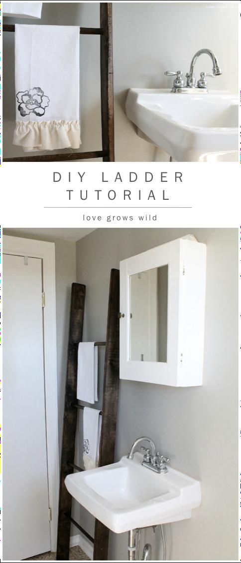 6. Ladder Towel Holder via SIMPHOME.COM .jpg
