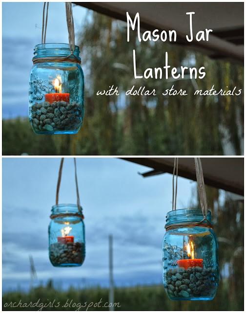 6. Mason Jar Lanterns via SIMPHOME.COM