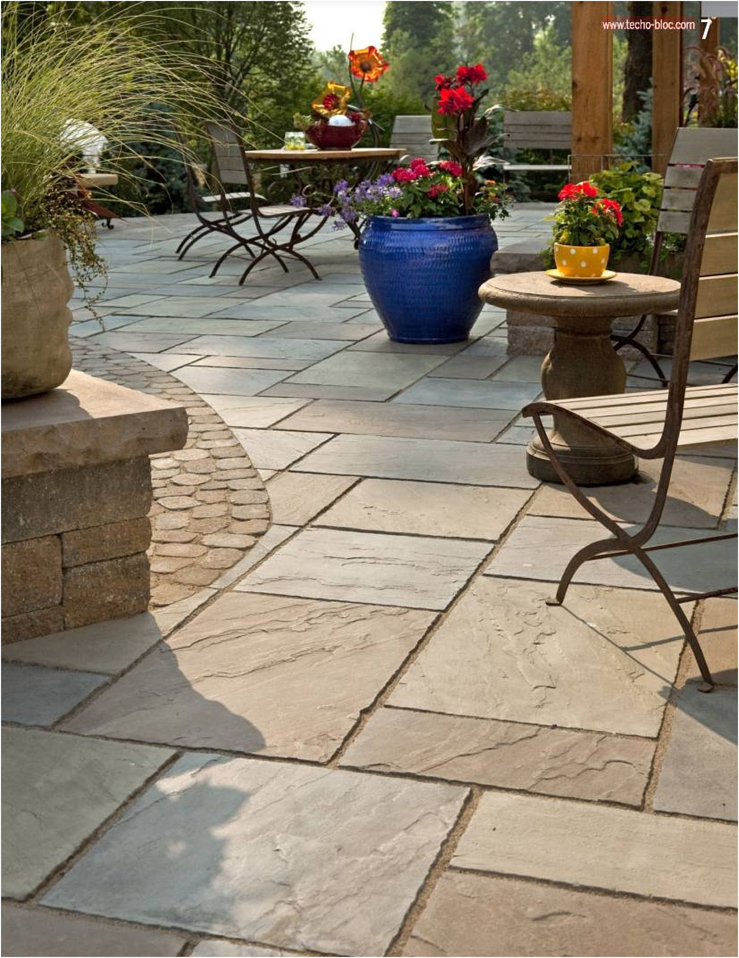 6. Use stamped concrete via Simphome.com