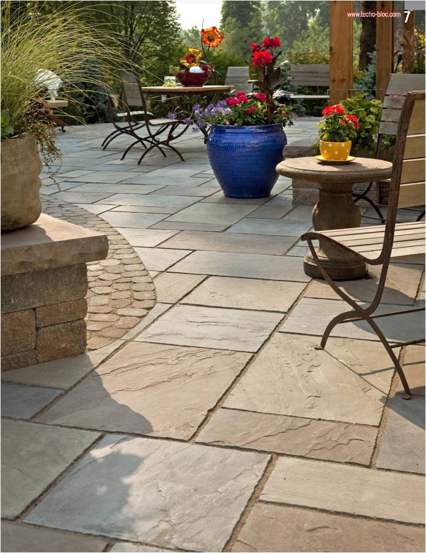 6. Use stamped concrete via Simphome.com