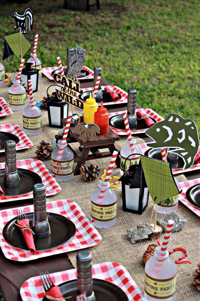 7 Camping Themed Birthday Party via SIMPHOME.COM