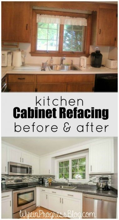 7. Refacing Kitchen Cabinet with Beadboard Accent via Simphome.com