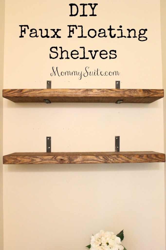 7. Simple Floating Shelves via SIMPHOME.COM