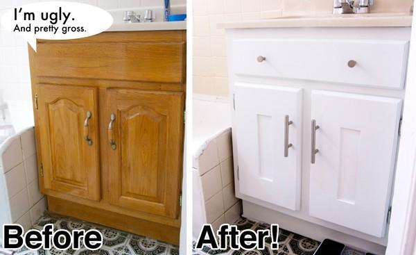 8. Classic to Shaker Bathroom Vanity via Simphome.com