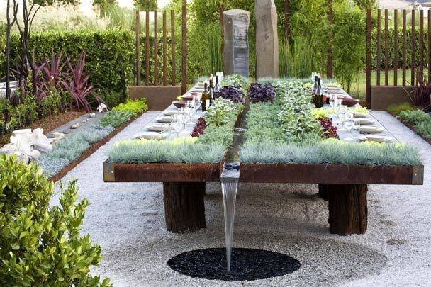 8. Vegetable Garden on a Dining Table via Simphome