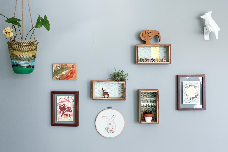 8. Wall Mounted Shelves via Simphome