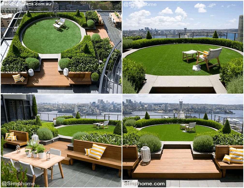 8.Rooftop Garden Ideas by Simphome.com
