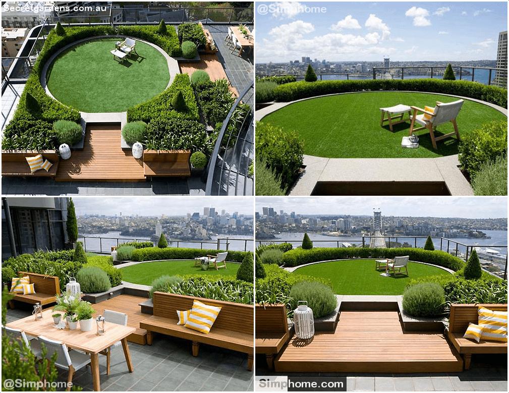 8.Rooftop Garden Ideas by Simphome.com