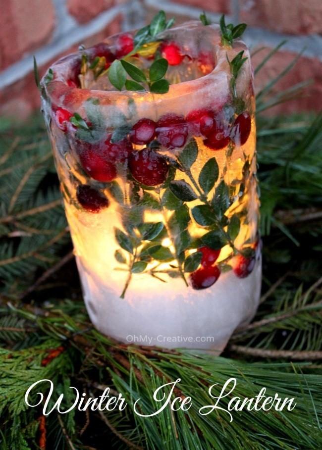 9. Ice Lanterns for Winter via SIMPHOME.COM