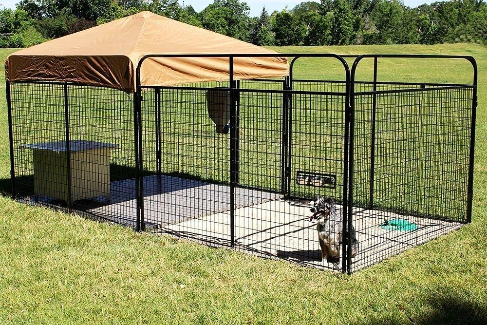 9.Portable Dog Kennel with Shade via Simphome.com