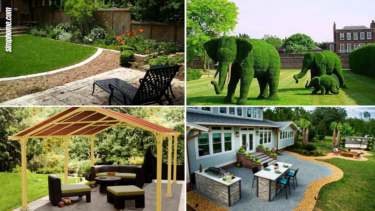 Clever DIY Ideas How to Landscaping Backyard Garden via Simphome.com Featured Image