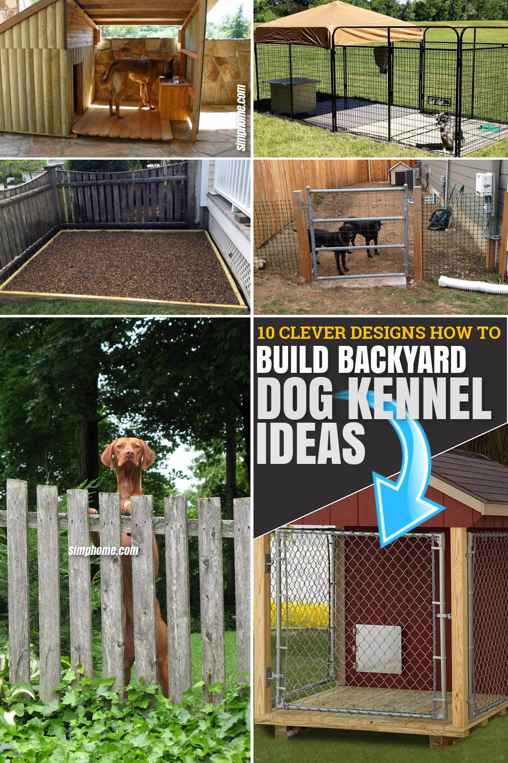 SIMPHOME.COM 10 Clever Designs of How to Build Backyard Dog Kennel Ideas FEATURED PINTEREST IMAGE