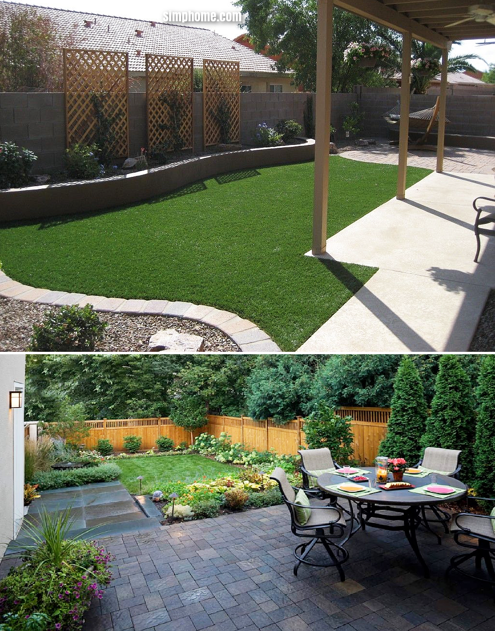 SIMPHOME.COM .11 Genius Tricks of How to Build Small Backyard Landscape Ideas On A Budget.4