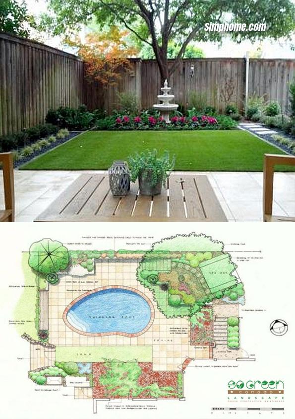 Simphome.com 2022 landscape design plans backyard landscape garden design plans
