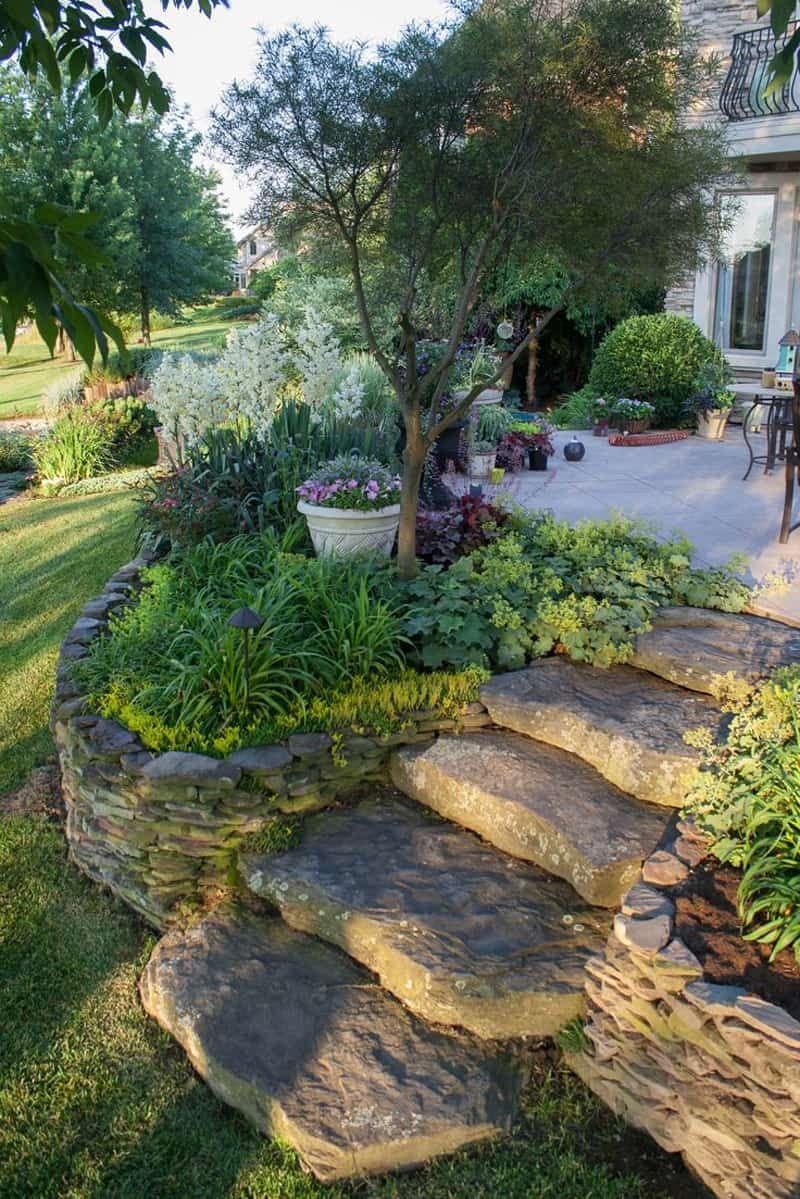 Simphome.com featuring sloped backyard design ideas intended for landscape design plans backyard