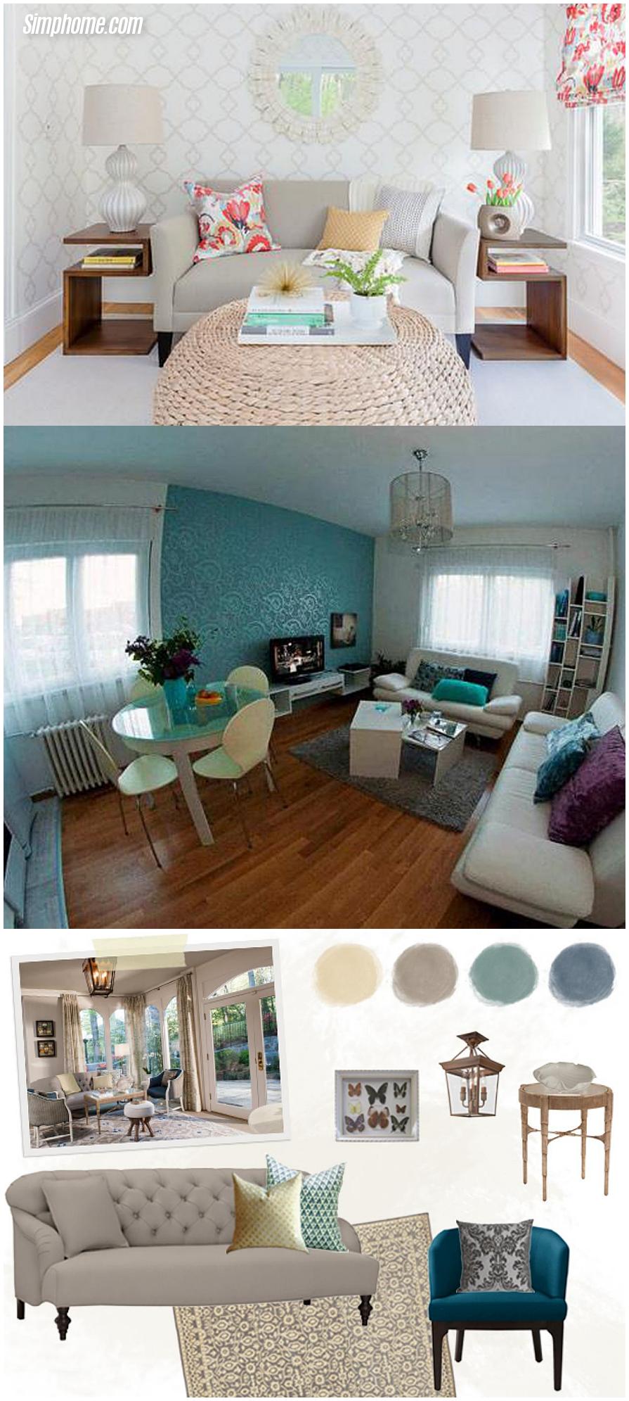 Small room design living room arrangements ideas and design via Simphome.com