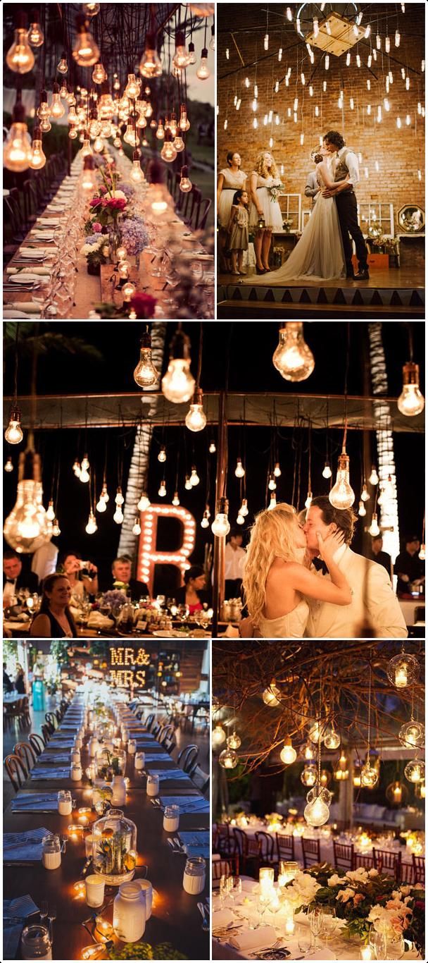 Yellow Bulbs as Lighting for the Evening Reception via Simphome