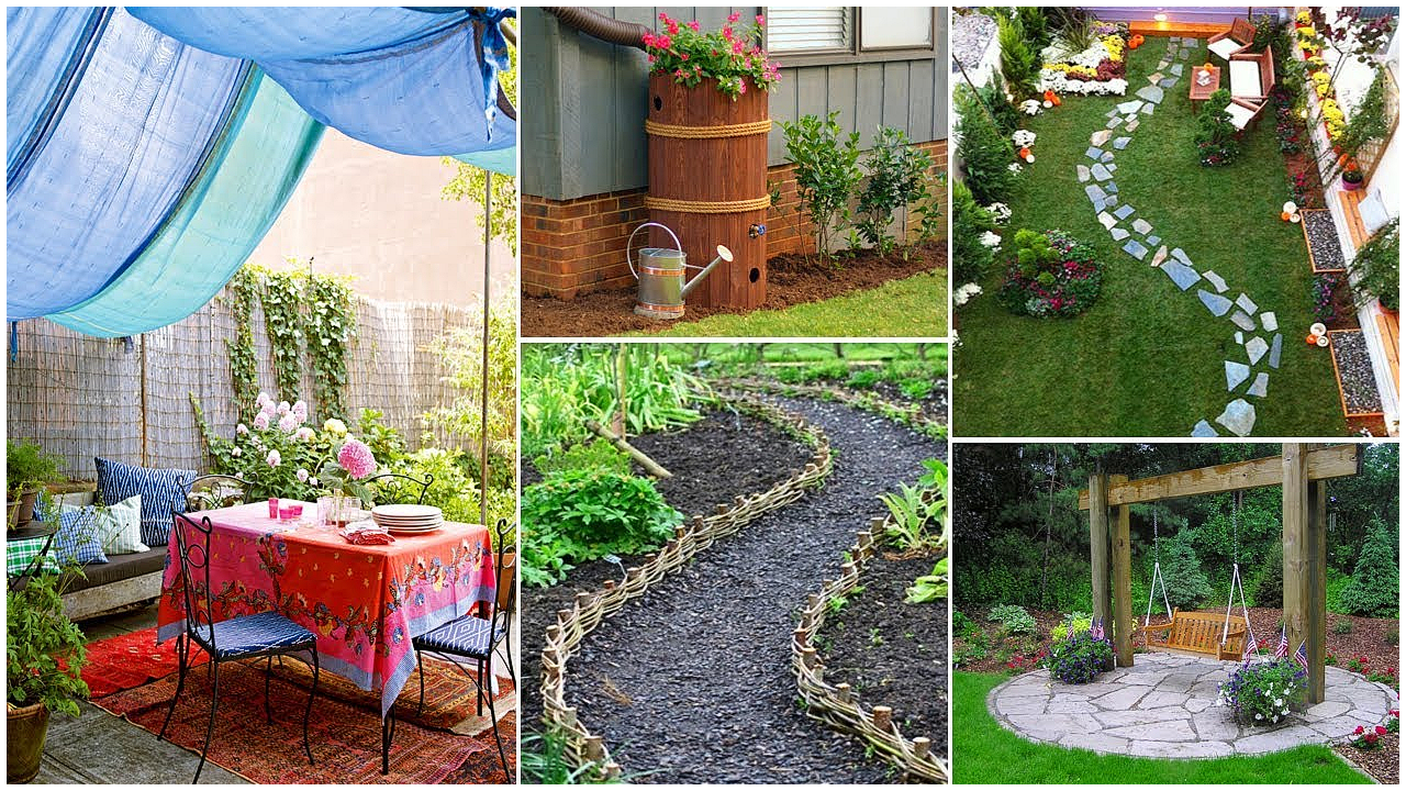 easy and creative diy for backyard ideas on a budget garden ideas for diy backyard landscaping via Simphome.com