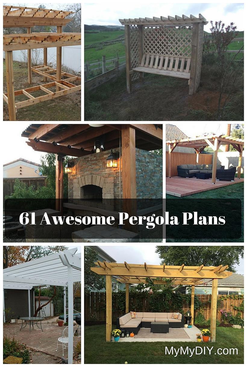 pergola plan designs ideas free mymydiy inspiring diy via Simphome.com