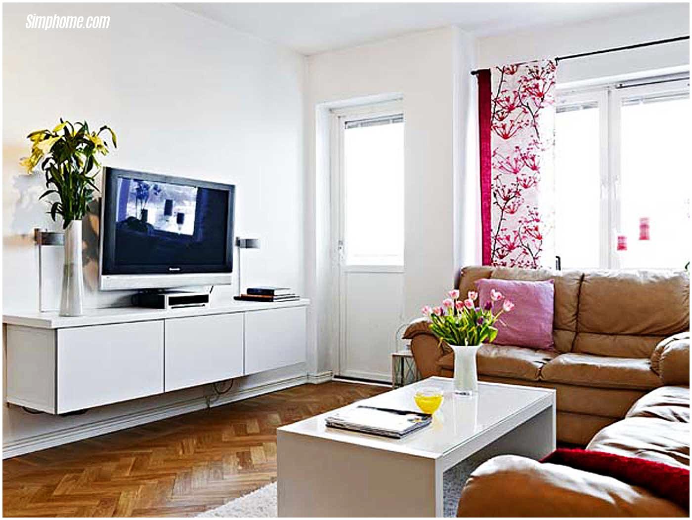 small room design living room furniture for small spaces via Simphome.com