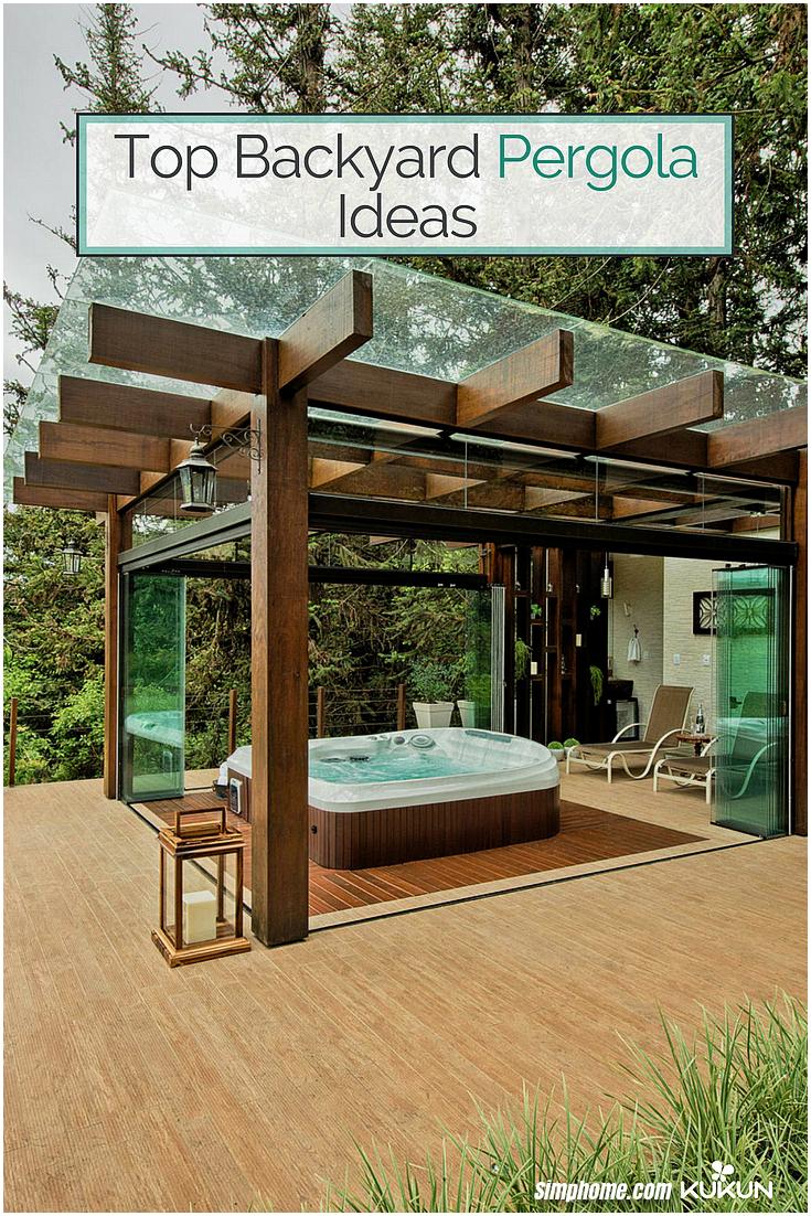 top backyard pergola ideas for your garden house design improvement via Simphome.com
