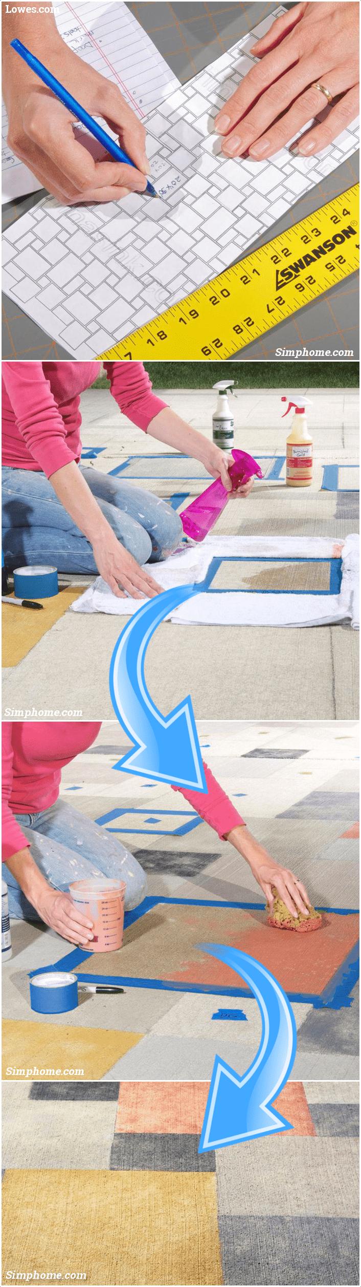 1.A Rug Made of Concrete via Simphome.com